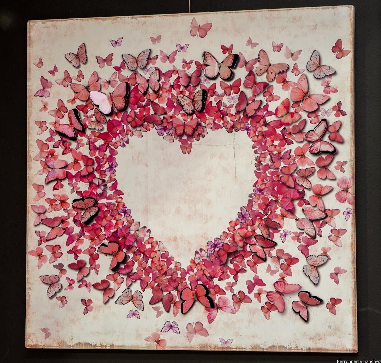 Tableau cœur rose