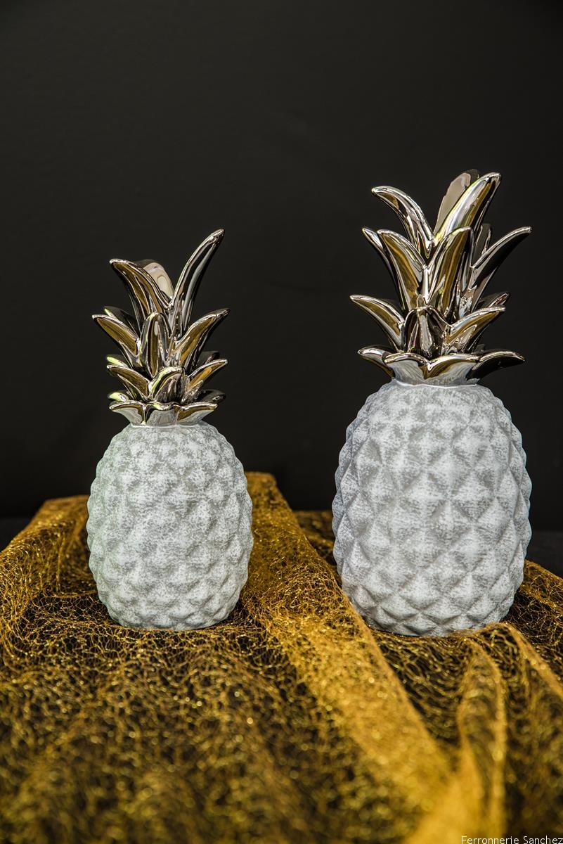 Ananas gris et argent